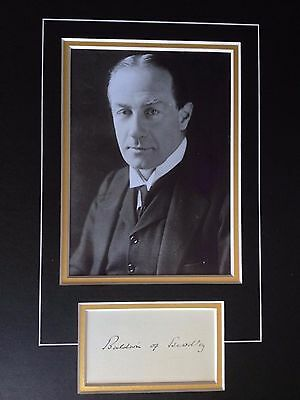 Stanley Baldwin - Former Prime Minister - Excellent Signed Photo Display
