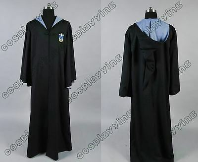 Harry Potter Costume Ravenclaw Logo Robe Wizarding World Halloween Cosplay Cloak