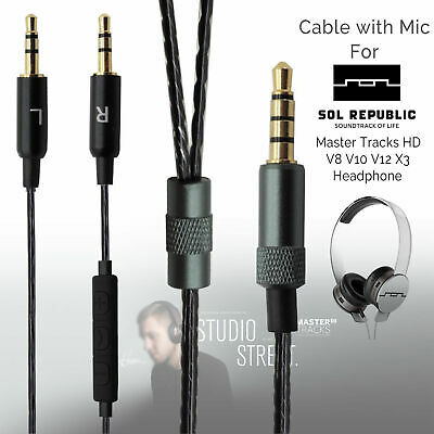 Replacement Mic Cable For Sol Republic Master Tracks HD V8 V10 V12 X3 Headphone