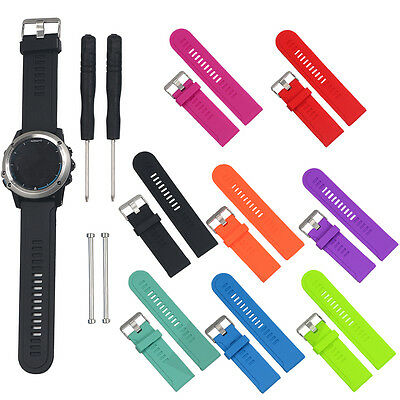 Replacement Soft Silicone Wrist Band Watch Strap With Tools for Garmin fenix 3