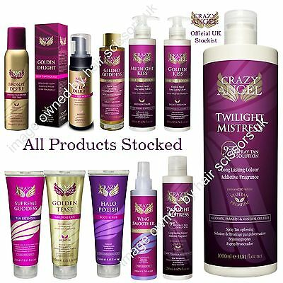 Crazy Angel Self Tan Spray Tanning Lotions & Scrubs  ALL PRODUCTS STOCKED