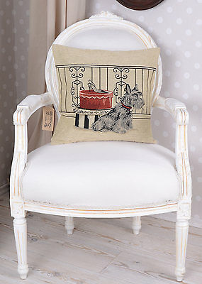 Pillow Cover Gobelin Tapestry Cushion Terrier Country Style