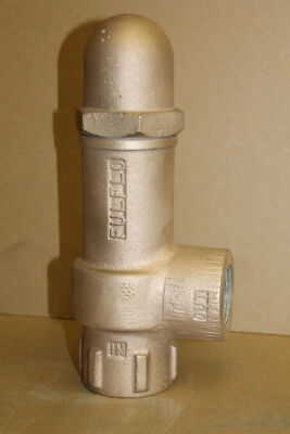 "Relief valve, Brass, 1 1/4"", Adjustable 30 to 100psi, VB-6-WS-60 Fulflo"