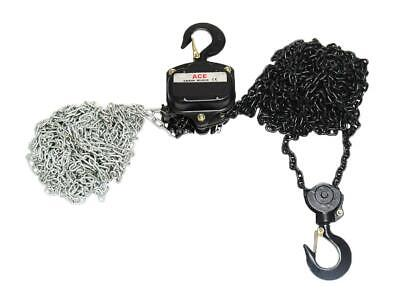 "3 Ton x 3 Metre Chain Block - 3000KG Lift Manual 1/2"" Hand Tackle Hoist Brake"