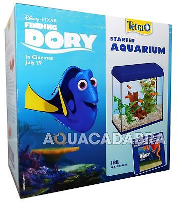 Disney Finding Dory 18L Starter Aquarium Fish Tank Poster Filter Gravel Tetra