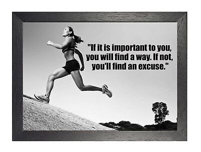 Motivation 605 Running Inspiration Poster Sport Train Fit Quote Picture