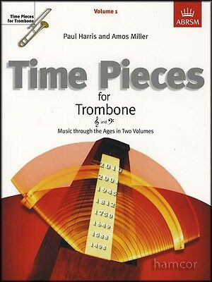 Time Pieces for Trombone Volume 1 ABRSM Sheet Music Book