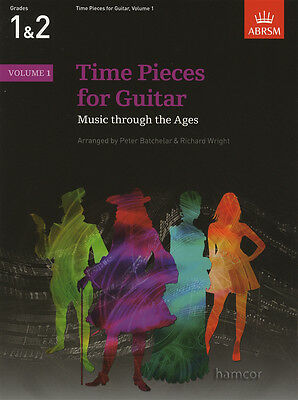 Time Pieces for Guitar Volume 1 ABRSM Classical Guitar Sheet Music Book