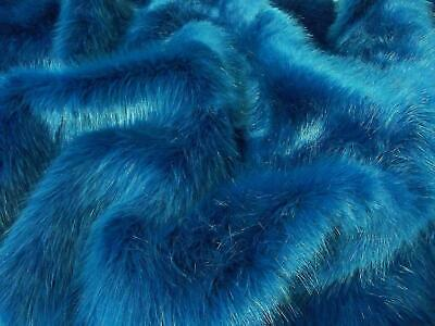 Super Luxury Faux Fur Fabric Material - SWISS BLUE STONE