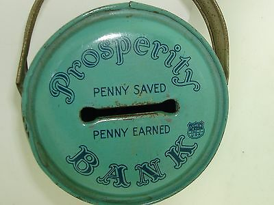 "Vintage 1930-40'S Chein Lithographed Tin ""Prosperity Bank""!"