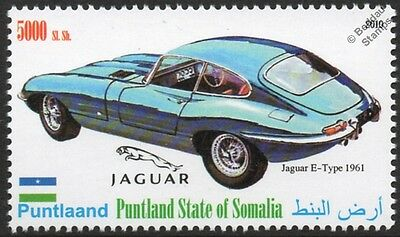 1961 JAGUAR E-Type Sports Car Automobile Stamp