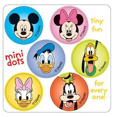 """180 Mini Mickey Mouse Disney Pals Stickers, Each 7/8"""" Round"""