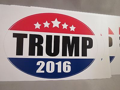 Wholesale Lot Of 20 Trump For President 2016 Bumper Stickers Usa Made Oval Decal
