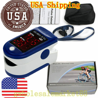 USA Contec OLED Oximeter Pulse finger Tip Monitor Blood Oxygen SpO2 50D + CASE