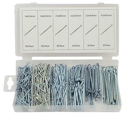 500Pc Cotter Pins Assortment Split Pin Assorted Retaining R Clip Workshop Garage