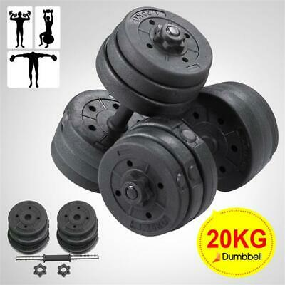 20KG Workout Training Dumbells Weights Dumbbell Set Gym Fitness Biceps Exercise