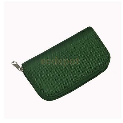 Green 22 Slots SD/CF Micro Memory Card Pouch Case Holder Wallet Waterproof