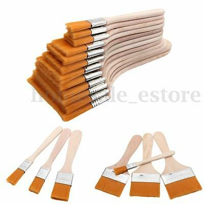 12PCS Wooden Painting Brush Artists Acrylic Oil Watercolor Panit Tool Art Supply