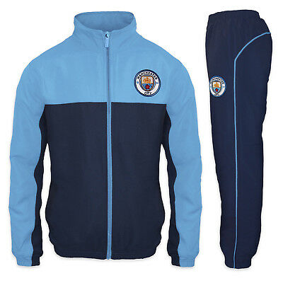 Manchester City FC Official Football Gift Boys Jacket & Pants Tracksuit Set