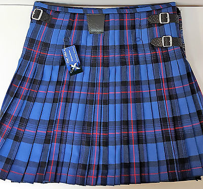 "25"" Drop Rangers 8 Yard Wool Made in Scotland Kilt Only £299 All Sizes Now £199"