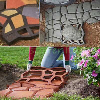 Driveway Paving Brick Patio Concrete Slabs Pathmate Path Garden Walk Maker Mould