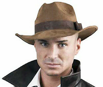 NEW Adult Size Brown Indiana Jones Hat Dress Up Costume