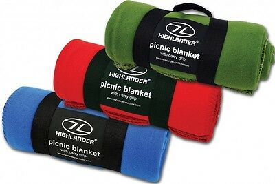Fleece Blanket - Warm Soft Lightweight Construction Picnic Blanket With Handle