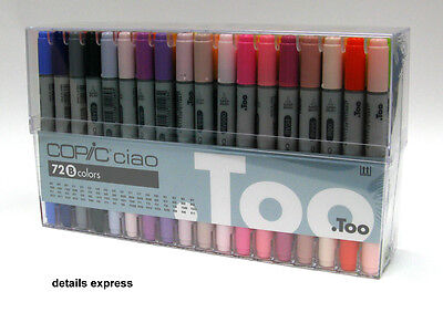 Copic Ciao 72 Brush Pen Marker Set B - Graphics & Manga
