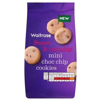 Mini Milk Choc Chip Cookies Waitrose 100g