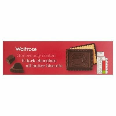 Continental Dark Chocolate Butter Biscuits Waitrose 125g