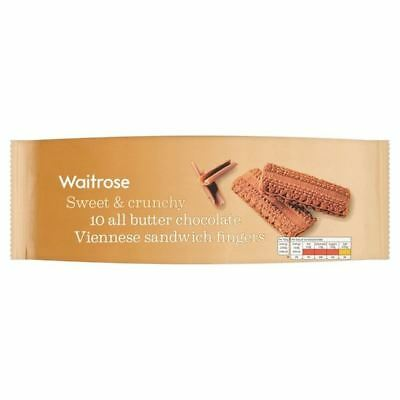 All Butter Chocolate Viennese Biscuits Waitrose 150g