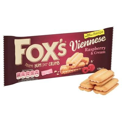 Fox's Raspberry & Cream Viennese 120g