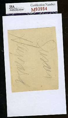 Susan Hayward Signed Jsa Certified 3X5 Index Cut Authenticated Autograph