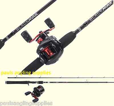 Abu Garcia BlackMax Left Hand Fishing Rod & Reel Baitcasting Spin Spinning