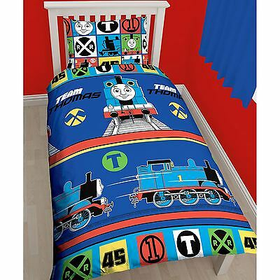 Thomas The Tank Engine Team Single Duvet Cover Set - Rotary - Kids Bedding