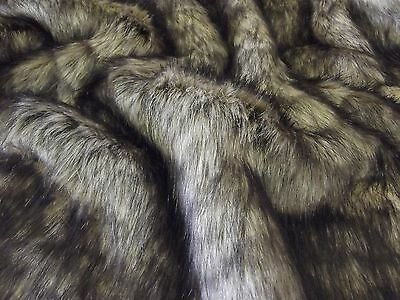 Super Luxury Faux Fur Fabric Material - COYOTE 262