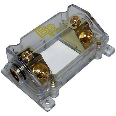 knukonceptz knf 12 1 0 gauge 2 way 4 8 gauge out midi mini anl bass rockers clear anl fuse holder box 0ga 4ga gauge awg in out heat
