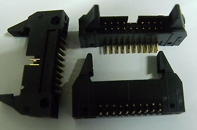 10 Molex 5340-20BG1 PCB 20 way latched right angle IDC header plug RA