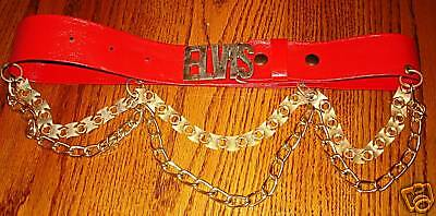 Elvis Presley Costume Belt With Chains