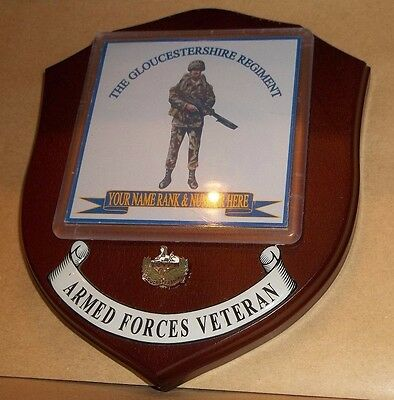 The Gloucestershire Regiment Veteran Wall Plaque personalised.