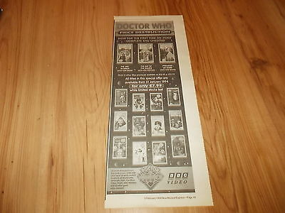 Doctor Who-Videos-1994 poster size press advert