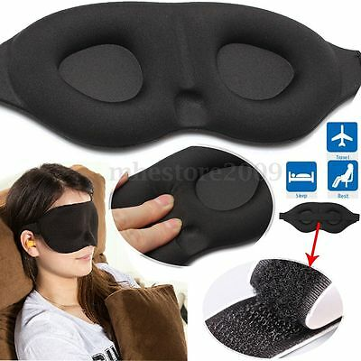 3D Memory Sponge Travel Sleep Eye Mask Padded Shade Cover Sleeping Blindfold Aid