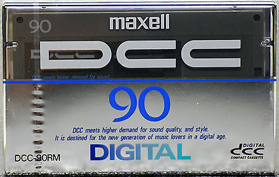 MAXELL DCC-90RM  DCC Digital Compact Cassette 90 minutes New & Sealed