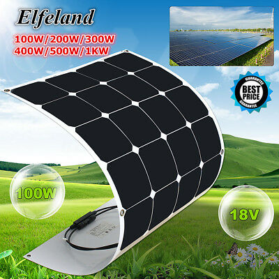 100W/200W/300W/400W/500W/1KW Semi Flexible Mono Solar Panel Battery Charger RV