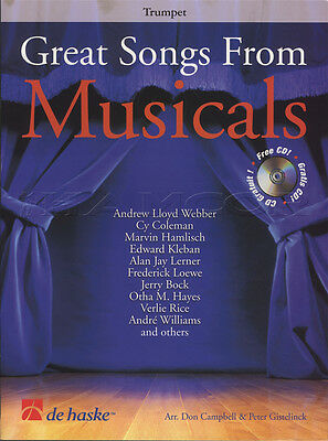 Great Songs from Musicals for Trumpet Sheet Music Book with CD Soundtracks