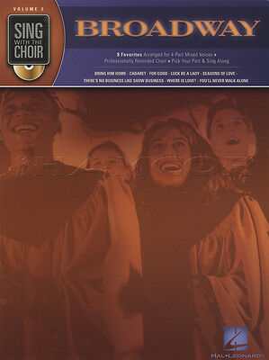 Sing with the Choir Broadway Vocal Sheet Music Book with CD Wicked Rent