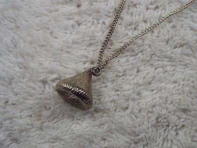 Silvertone Hershey Kiss Pendant Necklace (C48)