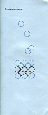 """Olympische Spiele 1972 München """"Olympia Rendezvous '72"""" Otl Aicher OLYMPIA"""