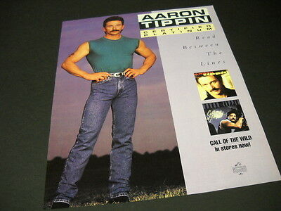 AARON TIPPIN cut 'n' buff with hands on hips 1993 PROMO POSTER AD mint condition
