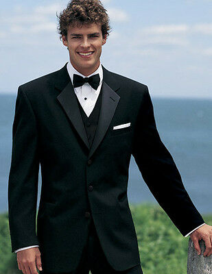 38R Mens Traditional Black Chaps Ralph Lauren Tuxedo Jacket Discount Formal